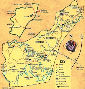Hluhluwe Game Reserve Map