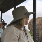 elie next to game drive safari vehicle