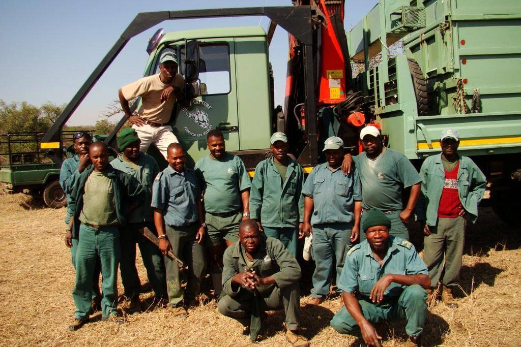 zululand game reserve game capture team