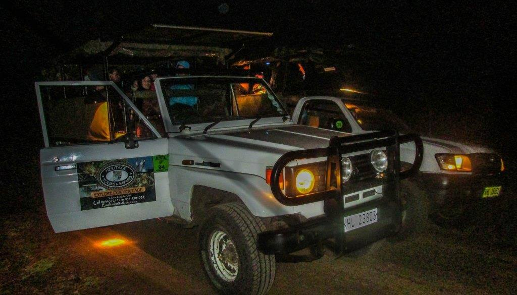 heritage tours Night Drive isimangaliso