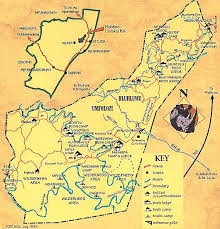 hluhluwe-iMfolozi game reserve map south africa