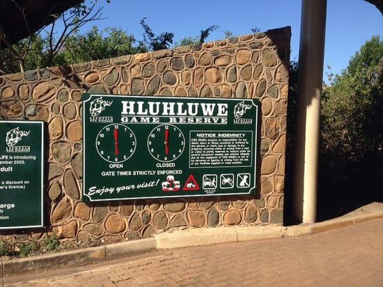 hluhluwe imfolozi gate times clock