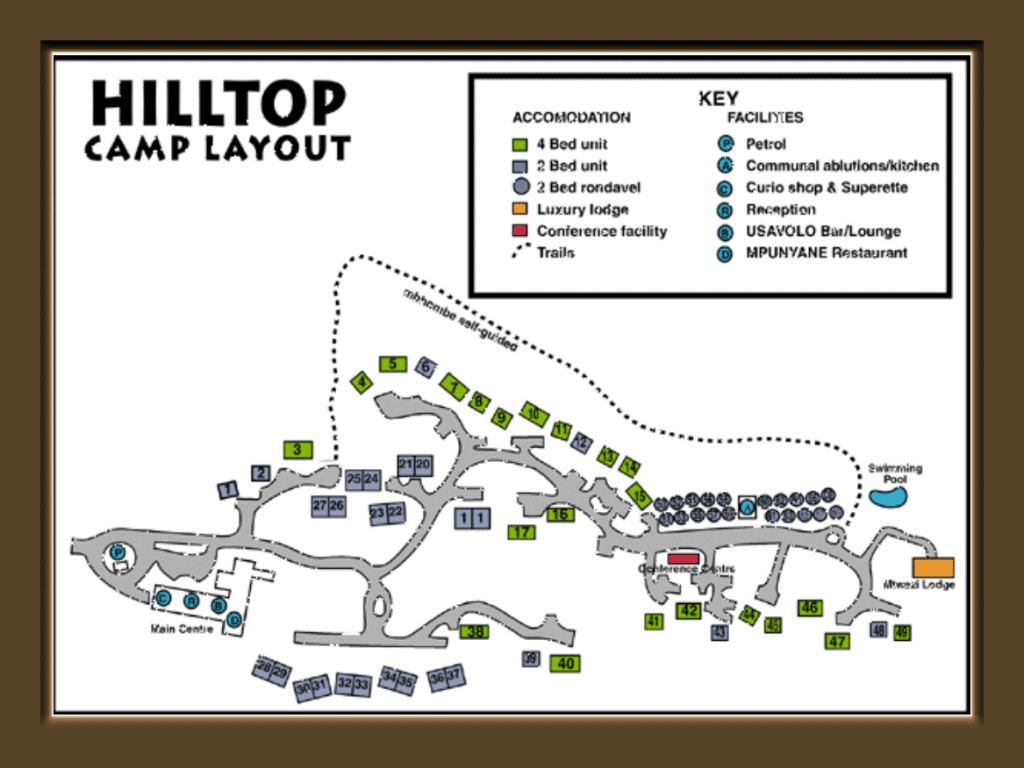 hluhluwe hilltop camp layout