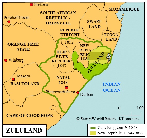 Zululand Map South Africa